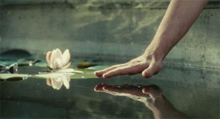 tocar a água